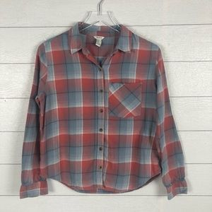 Forever 21 blue & red flannel